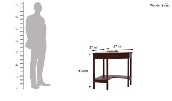 Eldor Study Table (Mahogany Finish)-6