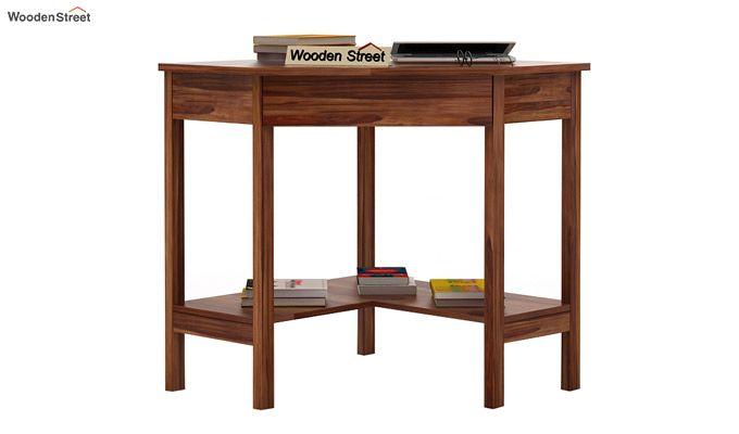 Eldor Study Table (Teak Finish)-1