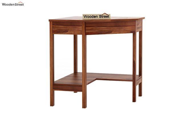 Eldor Study Table (Teak Finish)-5