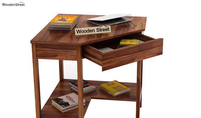 Eldor Study Table (Teak Finish)-4