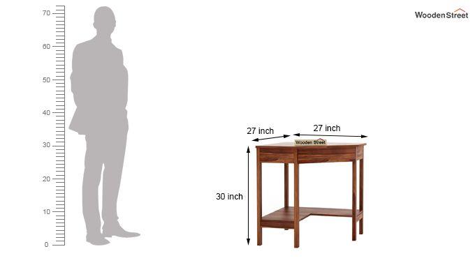 Eldor Study Table (Teak Finish)-6