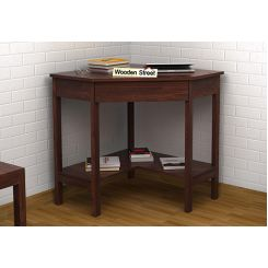 Eldor Study Table (Walnut Finish)