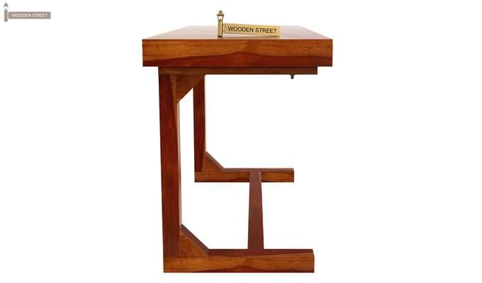 Enric Office Table (Honey Finish)-2