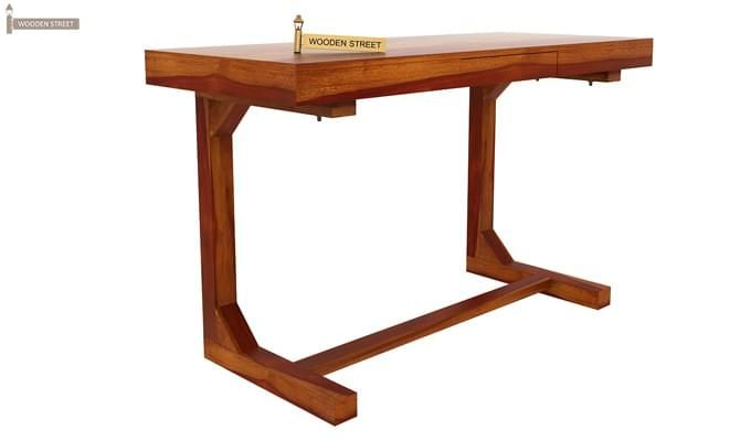 Enric Office Table (Honey Finish)-3