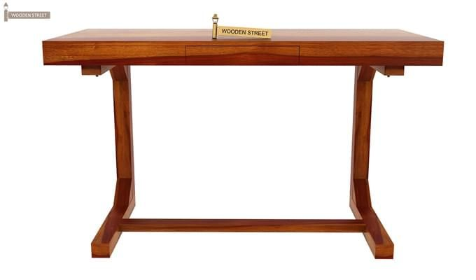 Enric Office Table (Honey Finish)-4