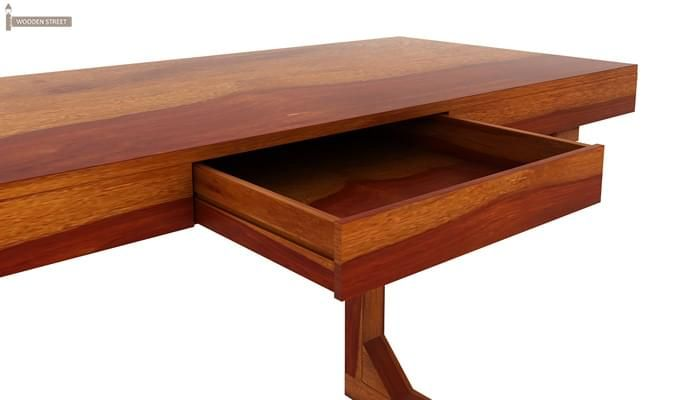 Enric Office Table (Honey Finish)-5