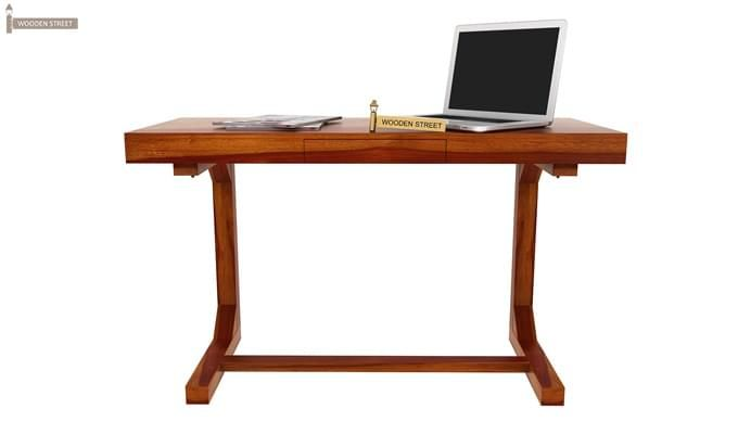 Enric Office Table (Honey Finish)-7