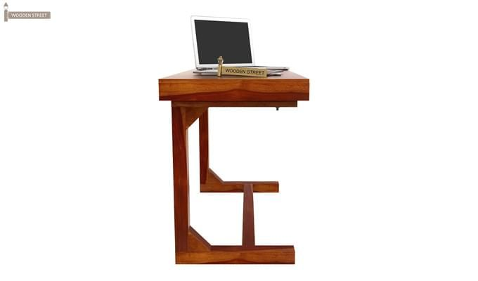 Enric Office Table (Honey Finish)-8