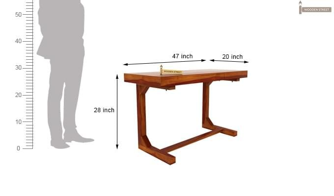 Enric Office Table (Honey Finish)-9