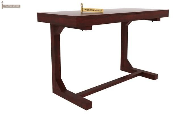 Enric Study Table (Mahogany Finish)-1