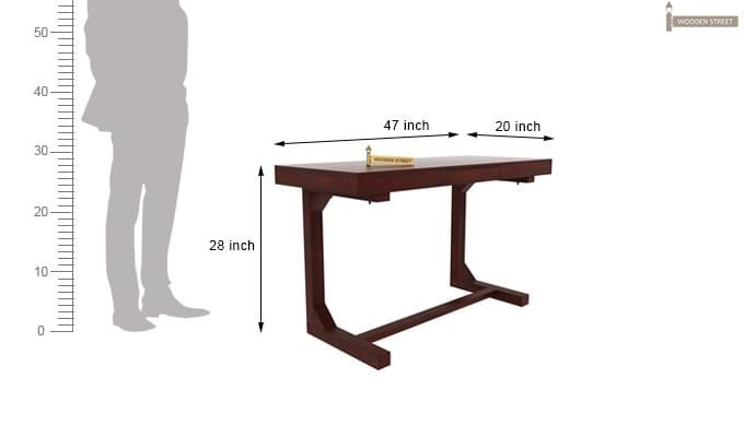 Enric Study Table (Mahogany Finish)-4