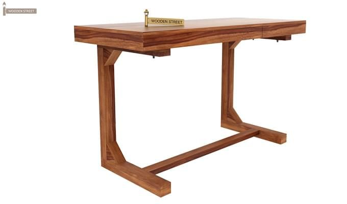 Enric Study Table (Teak Finish)-1