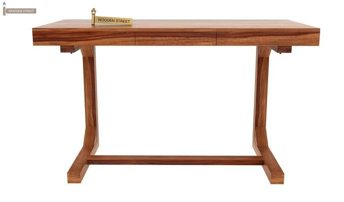 Enric Study Table (Teak Finish)-2
