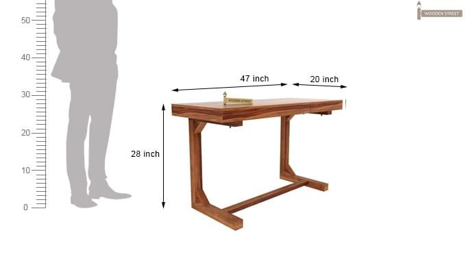 Enric Study Table (Teak Finish)-4