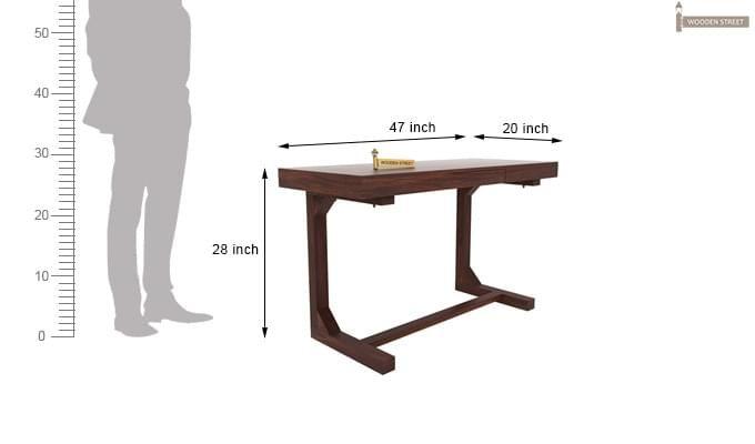 Enric Study Table (Walnut Finish)-4