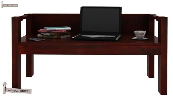 Evan Study Table Cum Laptop Table (Mahogany Finish)-7