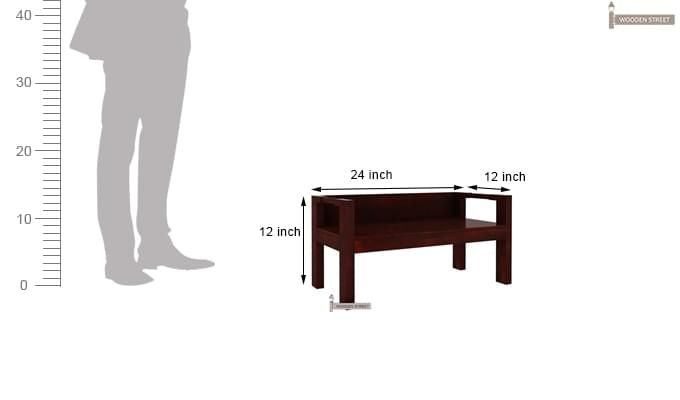 Evan Study Table Cum Laptop Table (Mahogany Finish)-8