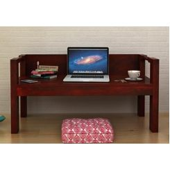 Evan Study Table Cum Laptop Table (Mahogany Finish)