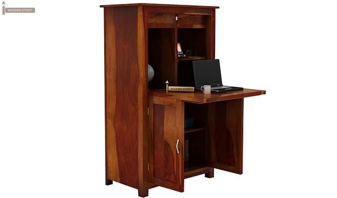 Feldon Study Table Cum Bookshelf (Honey Finish)-2