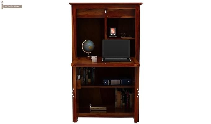 Feldon Study Table Cum Bookshelf (Honey Finish)-4
