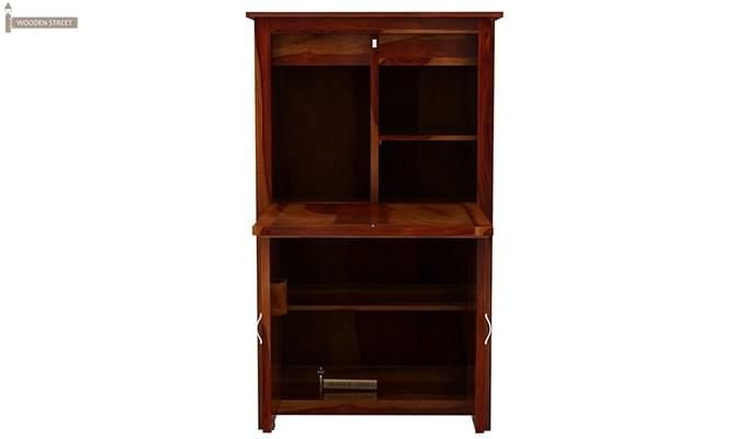 Feldon Study Table Cum Bookshelf (Honey Finish)-5