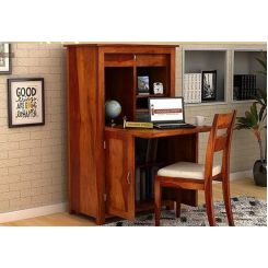 Feldon Study Table Cum Bookshelf (Honey Finish)