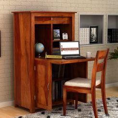 Feldon Study Table Cum Bookshelf (Honey Finish)