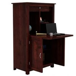 Feldon Study Table Cum Bookshelf (Mahogany Finish)