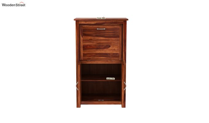 Feldon Study Table Cum Bookshelf (Honey Finish)-6