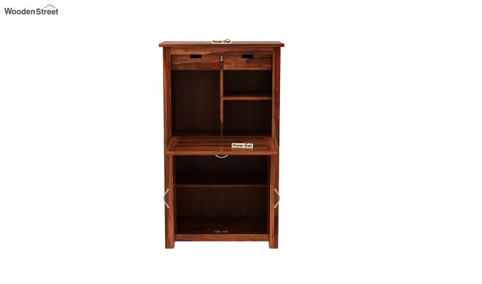 Feldon Study Table Cum Bookshelf (Honey Finish)-8