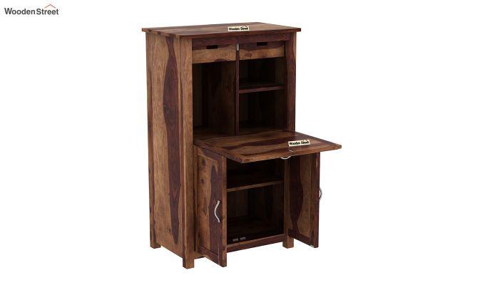 Feldon Study Table Cum Bookshelf (Teak Finish)-7