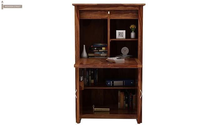 Feldon Study Table Cum Bookshelf (Teak Finish)-3
