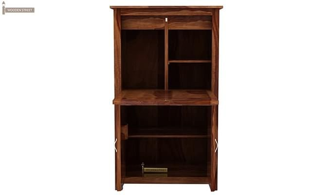Feldon Study Table Cum Bookshelf (Teak Finish)-4
