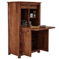 Feldon Study Table Cum Bookshelf (Teak Finish)