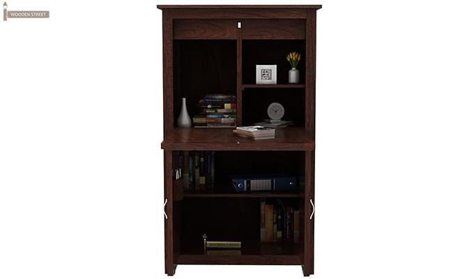 Feldon Study Table Cum Bookshelf (Walnut Finish)-4