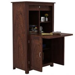 Feldon Study Table Cum Bookshelf (Walnut Finish)