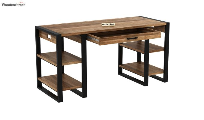Flex Office Table (Natural Finish)-5
