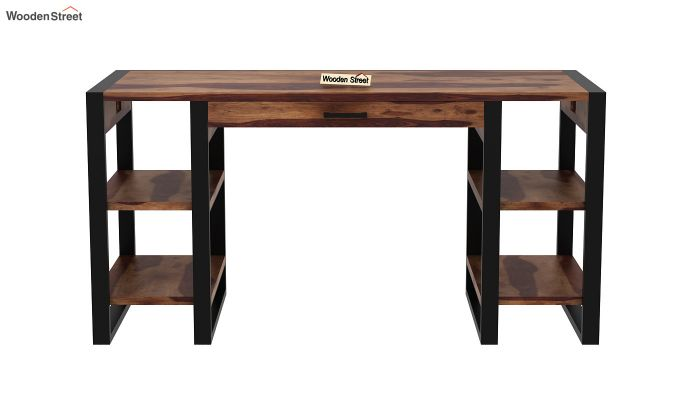 Flex Office Table (Teak Finish)-3