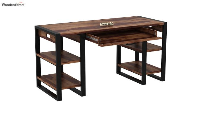 Flex Office Table (Teak Finish)-4