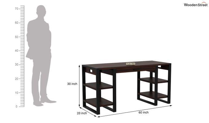 Flex Office Table (Walnut Finish)-6