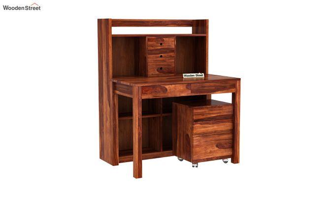 Frodo Study Table Cum Shelf (Honey Finish)-2