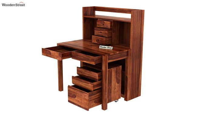 Frodo Study Table Cum Shelf (Honey Finish)-10