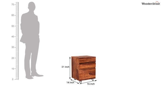 Frodo Study Table Cum Shelf (Honey Finish)-13