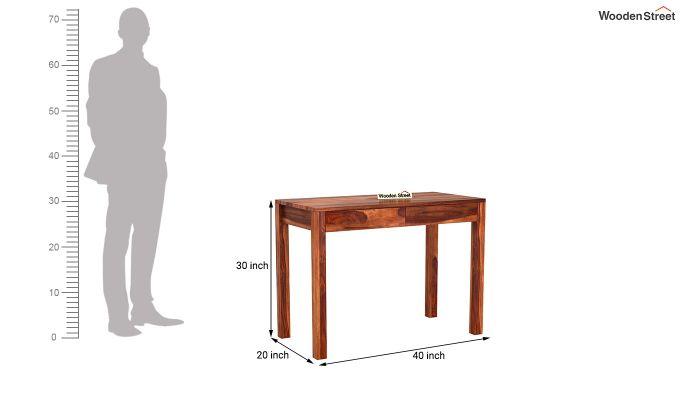 Frodo Study Table Cum Shelf (Honey Finish)-12