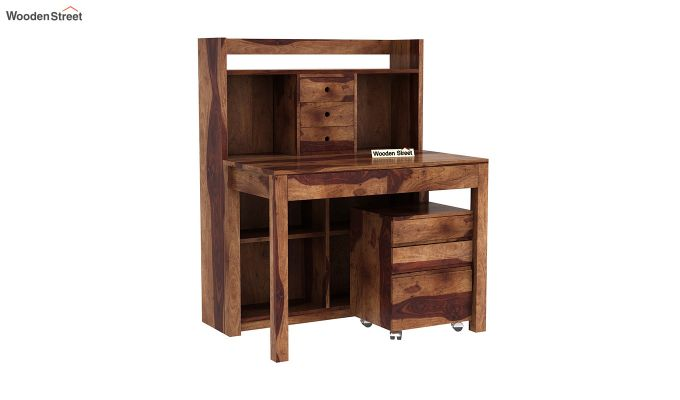 Frodo Study Table Cum Shelf (Teak Finish)-2