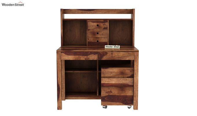 Frodo Study Table Cum Shelf (Teak Finish)-3