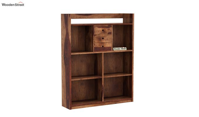 Frodo Study Table Cum Shelf (Teak Finish)-4