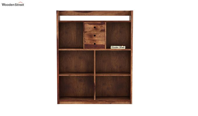 Frodo Study Table Cum Shelf (Teak Finish)-5