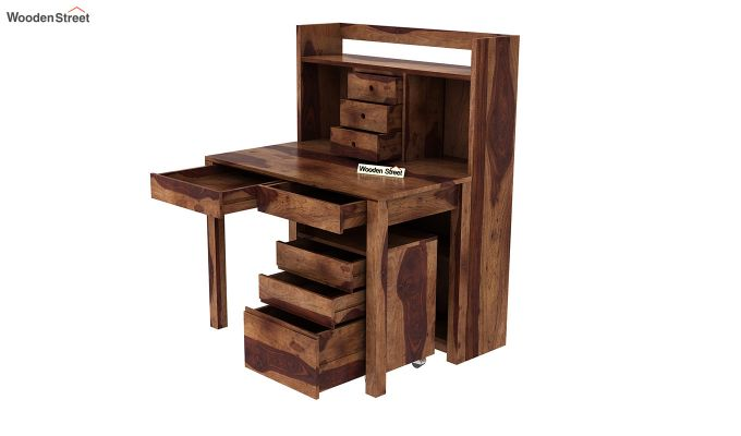 Frodo Study Table Cum Shelf (Teak Finish)-10