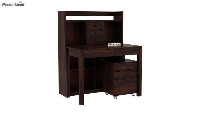 Frodo Study Table Cum Shelf (Walnut Finish)-2